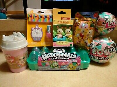 New Girls Easter Toy Lot LOL Surprise, Hatchimals, Calico Critters & More