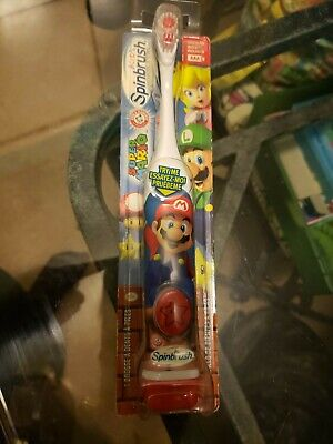 SPINBRUSH TOOTHBRUSH SUPER Mario Brothers Arm & Hammer