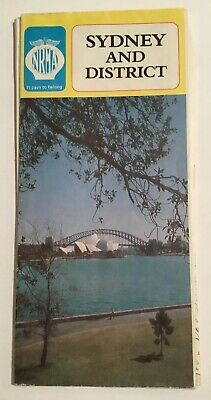 Old collectable 80s Sydney district NRMA Street road map