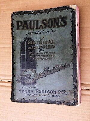 VTG 1923 Paulson's Watchmakers Jewelers Opticians Materials Catalog 794 pages