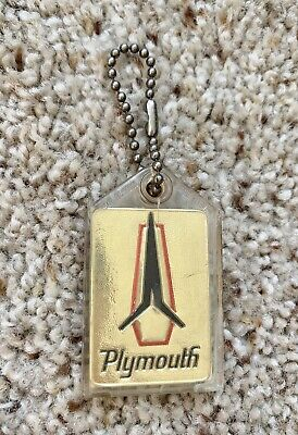 1963  Plymouth promotional key chain samples.