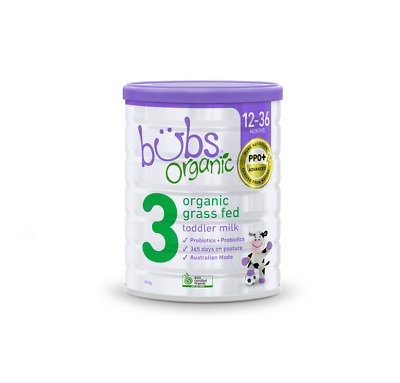 Bubs Organic Grass Fed Toddler Milk Stage 3