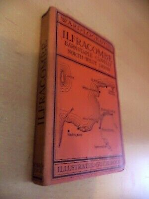 ILFRACOMBE DEVON 1930s WARD LOCKS RED GUIDE OLD ANTIQUE MAP TRAVEL BOOK