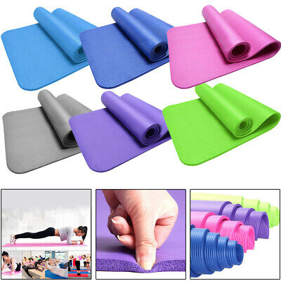 Thick Yoga Mat 10mm/15mm Exercise Gym Pilates Sports Fitness Cardio Non-Slip Mat