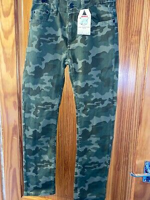 Boys Levis 510 Skiinny Jeans Camoflauge Age 14 Years New Tags