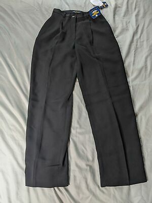 Charter Club Women's Petite Pleated Stain Protector Pants SV3 Black Size 2P NWT