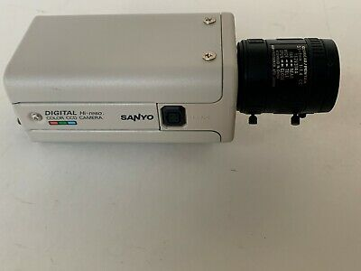 Sanyo VCC-6584DN Color CCD Security Camera W// Aspherical Lens 2.7-12mm