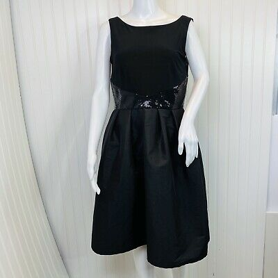 RM Richards Dress Size 10 NEW Black Sleeveless Stretch Top A Line