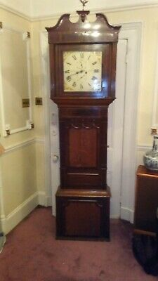 Robert Winstanley Oak And Mahogany Inlaid Grandfather Clock early 19thC