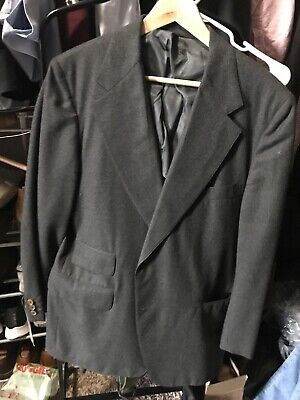 J.Press Solid Gray Flannel Wool Suit 3/2 Roll TRAD Sack CLASSIC Size 44s