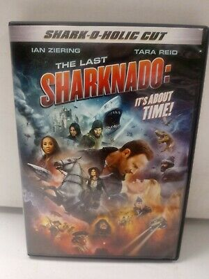 V-151 The Last Sharknado It/'s About Time Movie decor Poster Canvas 12x18 24x36in