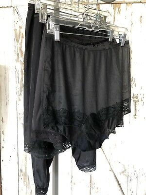 Vintage Black Size Large Bloomers Undergarments Lot5 Vanity Fair Vassarette