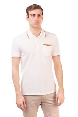 RRP €370 MAISON MARGIELA Polo Shirt Size 46 / S Destroyed Style Contrast Piping