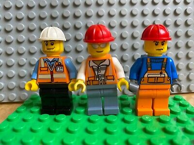 Lot of 4 LEGO City Construction Workers Crew # 6 Lot # 1A426