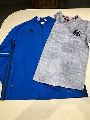 Used ADIDAS Jacket And DFND T-shirt Age 13-14 Years