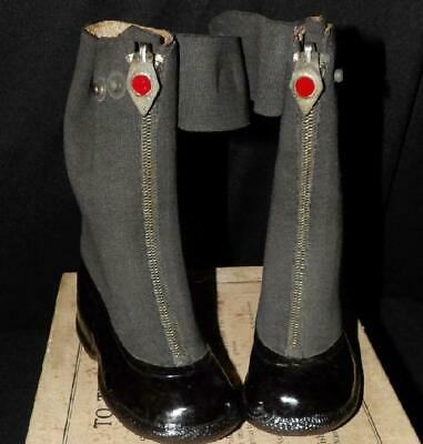 RED BALL CHILDS 30s 40s COUNTRY STORE ZIPPER RUBBER BOOTS ORIG BOX NOS 7 1/2 NEW