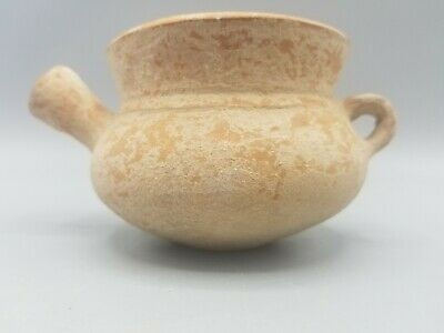 Outstanding Ancient Near Eastern Clay Pot Intact  2000Bce From Nyc Gallery