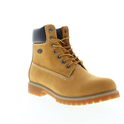 Lugz Convoy Wr MCNWK-7470 Mens Brown Nubuck Casual Dress Lace Up Boots Shoes