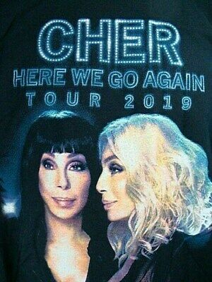 CHER 2019 HERE WE GO AGAIN Concert Tour T-Shirt 2 Sided 2XL