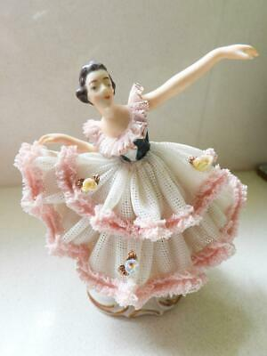 """Antique Dresden Lace Ballerina """"Marika"""" Signed & made by Alka Germany"""