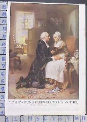 1918 President George Washington Mother Love Ferris Vintage Paint Print  Ci57