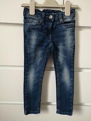NEXT___jeans denim trousers with adjustable waist girl age 4 yrs VGC