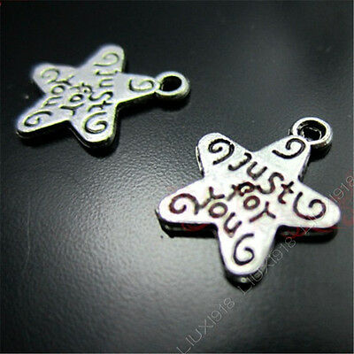 20x Tibetan Silver Star (just for you) Pendant Charms Beads Accessories N96P