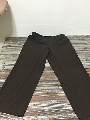 Zenergy By Chicos size 2 (= Large 12) Dark Brown Trousers Pants Career Stretch