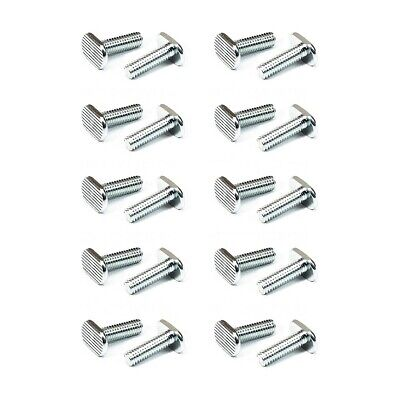 "POWERTEC 5/16""-18 Threaded T Bolts(20 Pack)-by Length, T Slot Bolt"