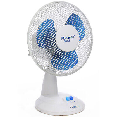 ventilateur de table 35cm 45w blanc - bestron