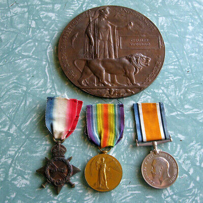 Ww1 Trio And Plaque To Swinfield. Dorset And Wiltshire Regiments.
