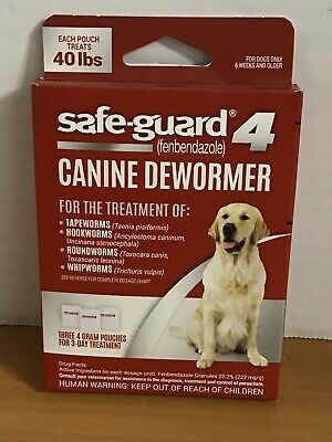 Safe-Guard Canine Dewormer for Dogs, 3 Day Treatment Large Dogs | 40 lbs/pouch