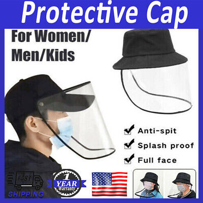 Full Face Transparent Anti Saliva Hat Shield Splash Dust Proof Protection Cover