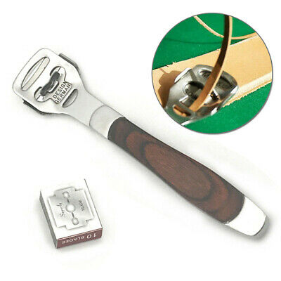 1pc Leathercraft Skiving Edge Cutting Trimmer For Leather Thinning Craft Tools