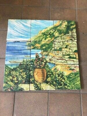 Positano Italy Hand Painted Terracotta Wall Tiles