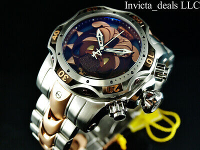 Invicta Mens Reserve 52mm Venom Gen III BULLDOG SWISS Chrono Rose Two Tone Watch