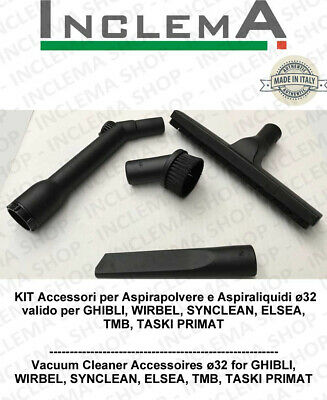 Accessories kit  vacuum cleaner ø32 valid for GHIBLI, TMB, SYNCLEAN, WIRBEL, EL