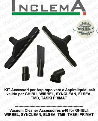 Accessories kit for Wet & Dry vacuum cleaner ø40 valid for GHIBLI, WIRBEL,