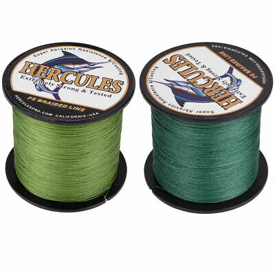 300M 328Yds 30LB Test Camo Green Hercules PE Braid Fishing Line 4 Strands Popper
