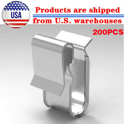 200Pcs/Set PV Solar Wire Clips Stainless Steel Cable Management SS