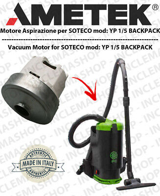 YP 1/5 BACKPACK  Vacuum Motor Domel for vacuum cleaner SOTECO