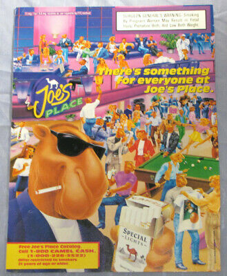 Vintage 1994 Camel Cigarettes Joe Pool Print Ad