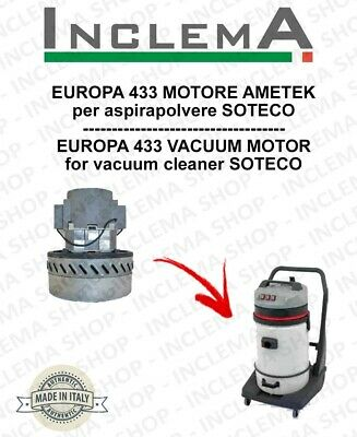 EUROPA 433 Vacuum Motor Amatek for vacuum cleaner SOTECO