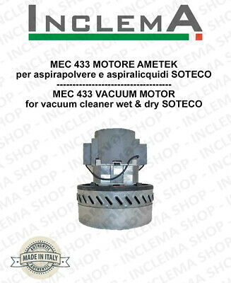 MEC 433 Vacuum Motor Amatek for vacuum cleaner SOTECO