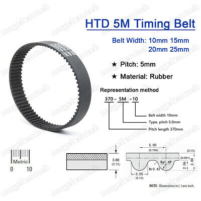 225-5M-09 HTD Timing Belt 225 mm Long 9mm wide /& 5mm Pitch