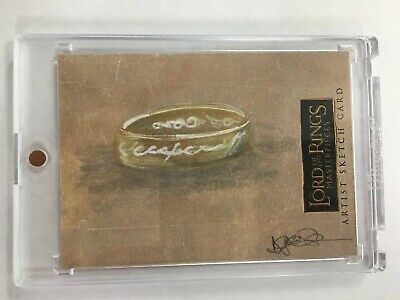 LOTR Lord of the Rings Masterpieces Topps Sketch Card by Darla Ecklund 1/1