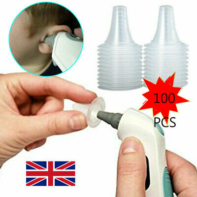 100 Pcs Probe Covers Replacement Lens Disposable Ear Thermometer Cap For Braun