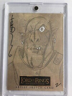 LORD OF THE RINGS MASTERPIECES SKETCH CARD Tom Hodges 1/1 #2