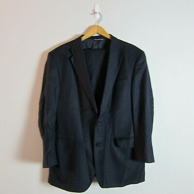 Custom Tailored Coppley Wool Blue Pinstripe 2 Button Vented Notch Lapel Suit