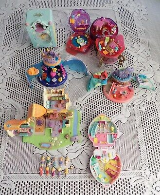 Vintage Polly Pocket Bundle of items including Disney and with figures.
